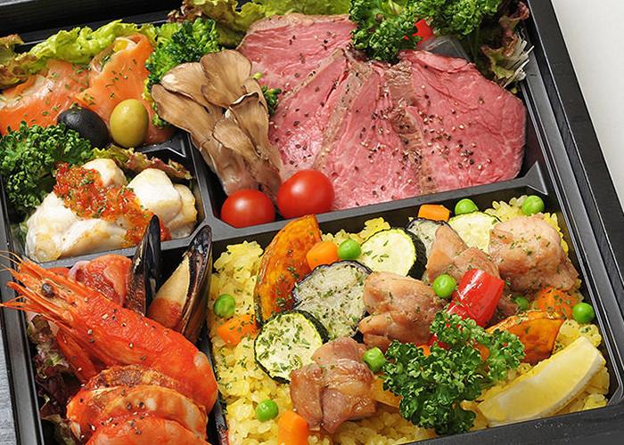 和牛フィレ肉のローストビーフと 季節のパエリア御膳